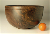 "9.5"" BLACK WALNUT BOWL #1087 (SKU: BWB55X95-1087)"
