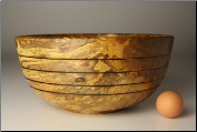 "11.5"" SPALTED RED MAPLE BOWL #1118 (SKU: SRMB50X115-1118)"