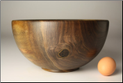 "10"" BLACK WALNUT BOWL #1109"