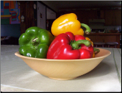 BIRCH BOWL AND PEPPERS