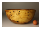 "13"" SPALTED COPPER BEECH BOWL #1145"